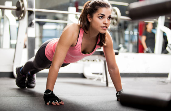 girl doing pushups